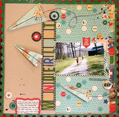 I am obsessed with @October Afternoon and this layout is so creative.