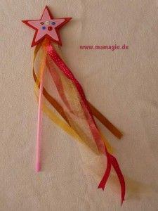 Zauberstab/Elfenstab für Mädchen basteln / DIY wand for girls