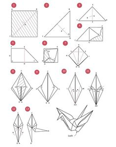 Origami Kranich - weddingstyle.de