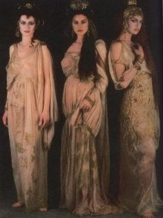 Dracula's brides (Florina Kendrick, Monica Bellucci and Michaela Bercu) from Francis Ford Coppola's Dracula Costumes designed by Eiko Ishioka
