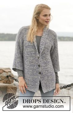 So quick and so beautiful! #knit jacket in garter st