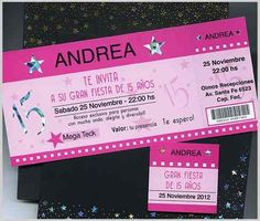 Entradas Tarjetas Para 15 Años Invitaciones Participaciones ... Ideas Para, Wedding Invitations, Party, Projects, Travel, Google, 15 Years, 15 Dresses, Activity Toys