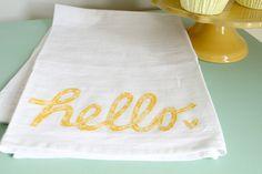 Gift Idea: Appliquéd Dish Towel using your Silhouette