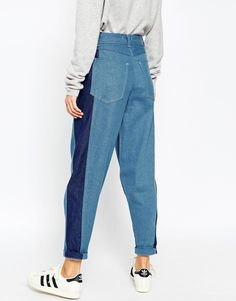 Image 2 ofASOS WHITE Ovoid Mom Jeans