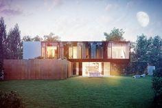 Highly-contrasted #house by Kabarowski Misiura Architekci | OMI Media Production