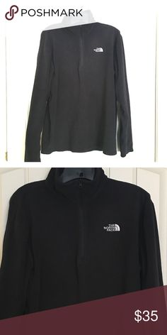 North Face Fleece coat Like New-only worn once. Black and size Large North Face Jackets & Coats