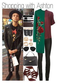 """""""Shopping with Ashton"""" by linusya-badoeva ❤ liked on Polyvore featuring art"""