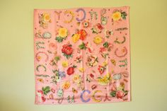 Vintage Gucci Floral Silk Scarf by GracedVestige on Etsy