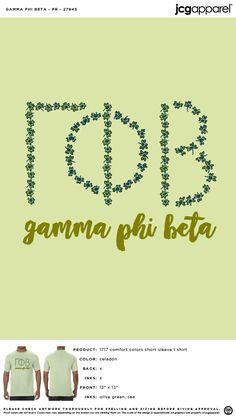 Gamma Phi Beta PR Shirt | Sorority PR Shirt | Greek PR Shirt #gammaphibeta #gfb #gpb #PR #Shirt #floral Sorority Pr, Sorority And Fraternity, Custom Design Shirts, Gamma Phi Beta, Spring Design, Comfort Colors, Spring Break, Shirt Ideas, Tee Shirt
