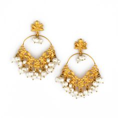 Earrings Creole Fleurs