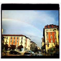 Rainbow over #milan