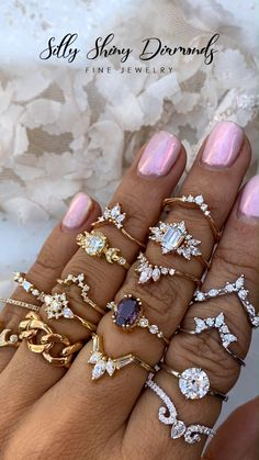 Exceptional Fine Jewelry Since 2010 Bridal Ring Sets, Bridal Rings, Round Diamond Engagement Rings, Vintage Engagement Rings, Antique Gold Rings, Gold Chain Design, Going For Gold, Jewelry Tattoo, Hand Jewelry