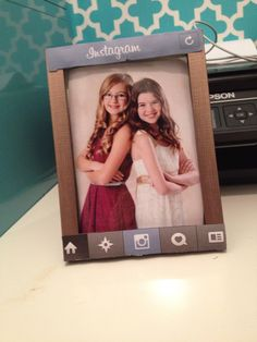 Adorable project or diy gift. This cute Instagram themed frame is great for teens and is very easy to make. I made this one myself and my best friend will love it. It's a great teen craft