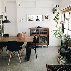 Living Spaces, Living Room, Japanese Interior, Modern Chandelier, Fashion Room, Decoration, Colorful Interiors, Office Desk, Layout