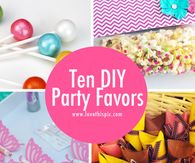 Ten DIY Party Favors