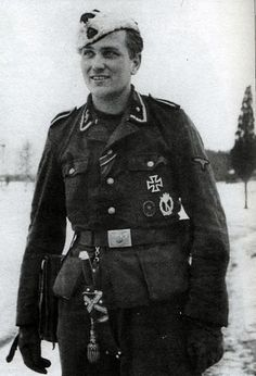 Harald Nugiseks of the 1st company of the SS Volunteer Grenadier Regiment of the 20th Estonian SS volunteer division.