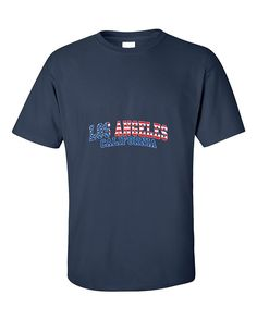Los Angeles California American Flag Pattern Fasion T-Shirt