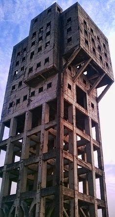 Shaft Tower of Shime Coal Mine Fukuoka Fukuoka Japan, Coal Miners, Time Out, Nova Scotia, Abandoned, The Good Place, Buildings, Tower, Spaces