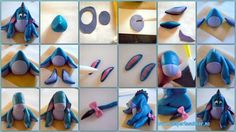 Eeyore Tutorial for Polymer Clay or Fondant