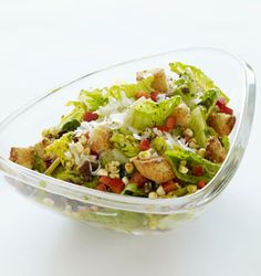 delicious zesty texas caeser salad, the perfect app for my steak!
