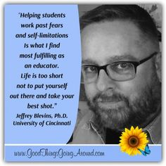 Jeff Blevins, Ph.D., head of the Department of Journalism at University of Cincinnati talks about his inspiration as a teacher