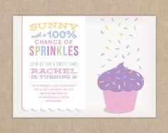 cupcake with raining sprinkles idea