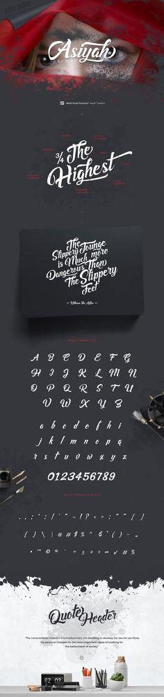 Asiyah Script Font Free Demo /Volumes/Marketing/_MOM/Design Freebies/Free Design Resources/aktabstudio_asiyah-script