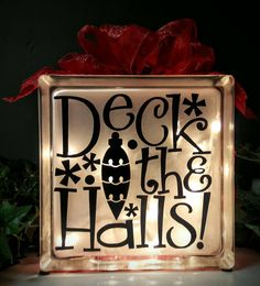 Check out this item in my Etsy shop https://www.etsy.com/listing/480897857/lighted-christmas-glass-block