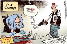 Brilliant Political Cartoon Shows Who Liberals Blame for all the Chicago Gun Violence