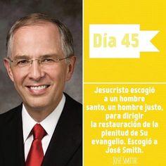 Dia 45 - 14 Febrero 2016 José Smith Neil L. Andersen Conferencia General, Octubre 2014 La pregunta del día de hoy es: ¿cual es el papel del profeta José Smith en la restauración? ¿Cuales son algunos de los frutos del profeta José Smith?