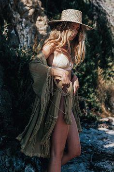 Fashion Lace Tasseled Half Sleeves Cover-Ups Swimwear - Bohemian Tops, Bohemian Style, Boho Chic, Bohemian Girls, Bohemian Summer, Boho Gypsy, Hippie Boho, Gypsy Soul, Boho Swim Suits