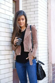 My New Favorite Pair of Denim - Andee Layne Cute Outfits With Jeans, Cute Jeans, Trendy Outfits, Fall Outfits, Blank Nyc, Suede Jacket, Paige Denim, Mom Style, Denim Fashion