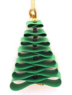 Mini árvore de Natal com papel                              …