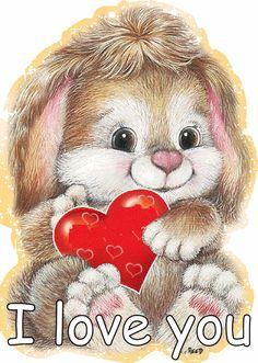 Cute I Love You Bunny girly cute heart gifs i love you i love you gifs Cute I Love You, Love You Gif, Cute Love Gif, My Love, I Love You Pictures, Love Images, Beautiful Gif, Beautiful Women, Animation