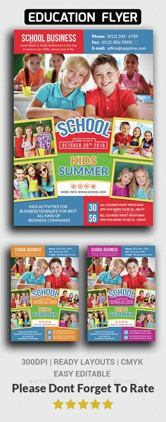 School Flyer Template PSD. Download here: http://graphicriver.net/item/school-flyer-templates/14888440?ref=ksioks