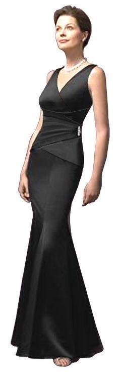 Magnifique robe de soirée classique de style sirène