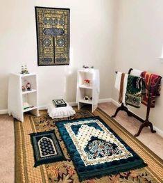 Room Design Bedroom, Room Ideas Bedroom, Home Room Design, Home Design Plans, Home Interior Design, Home Living Room, Living Room Decor, Prayer Corner, Islamic Decor
