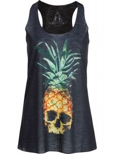 Pretty Attitude Women's Pina Skullada Loose Fit Tank Top