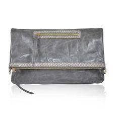 VALENTINA Leather clutch & shoulder Bag