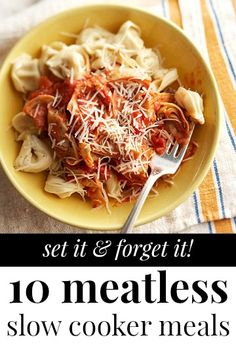 10 Meatless Slow Cooker Meals (Meatless Monday)