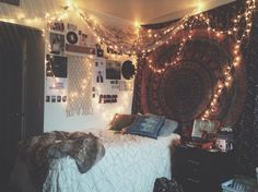 amazing, animals, bands, bed, bedroom, boy, city, comfy, cute, girl, lights, music, pillows, posters, pretty, room, tapestry, teen, teenage, tumblr, wall, tumblr room