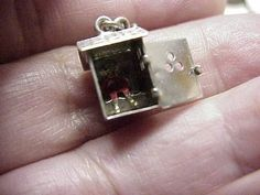 Vintage Sterling Silver Movable Outhouse Charm 1940'S | eBay  20