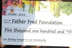 Father Fred Foundation Presented With Large Food Pantry Donation - Northern Michigan's News Leader