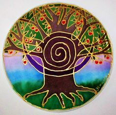 Tree of Abundance Tree of life mandala  by HeavenOnEarthSilks, $34.00