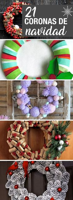 10 ideas to decorate your small apartment with little moneyadorning beautiful DIY handicrafts made of stone, stone and pebble to beautify your life - painting ideas 3 ideas of children& decoration with DIY touch originals! Recycled Christmas Decorations, Cheap Christmas Trees, Christmas Tree Village, Xmas Ornaments, Christmas Time, Christmas Wreaths, Christmas Crafts, Diy Candle Holders, Diy Weihnachten