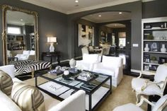 Walls painted with Sherwin Williams Gauntlet Gray