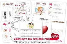 Free Valentine's Day Learning Printables