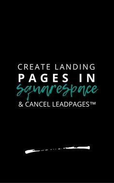 Because there are so many myths surrounding Squarespace, users buy more subscriptions, like LeadPages, than they need to create solutions that Squarespace can handle. So I'm here to debunk the myths & show you 4 ways to save money with Squarespace by cancelling your LeadPages subscription.