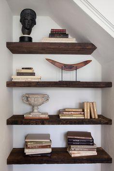 Under staircase shelves