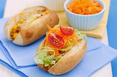 Mini Tuna Dinner Rolls ~ Fast Food Near Me  Ugh those hot dogs! Kids just live them and they are so unhealthy…Try to trick them into eating a healthy alternative dinner rolls filled with tuna and salad. It is worth to try it.